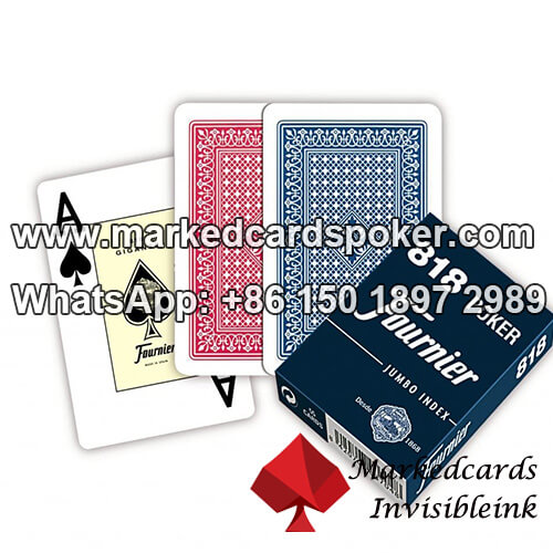 Fournier 818 codigo de barras borda lateral marcado baralhos decks