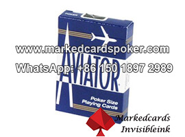 Aviator Blue Jumbo Index Barcode Marked Poker Cards