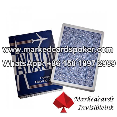 Aviador índice jumbo azul codigo de barras baralhos de jogo marcadas