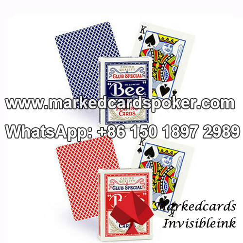 Bee playing poker cards