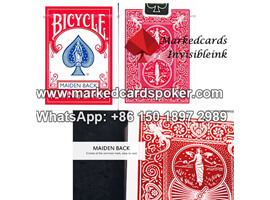 bicycle maiden marked cards