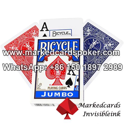Marked Bicycle cards for poker camera