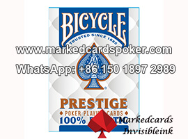 Bicycle Plastic Blue Prestige Barcode Marked Playing Decks