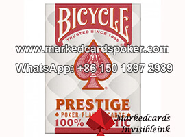Bicycle Prestige Red Barcode Marked Cards