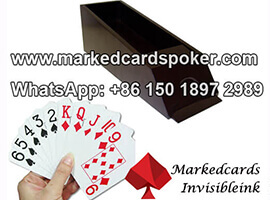 Customized Blackjack Shoe Marked Cards Reader For Baccarat