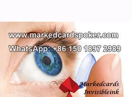 Lentes de contacto de ojos azules infrarrojos