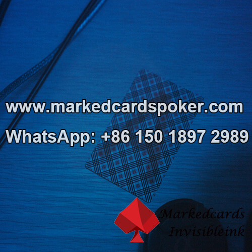 Blue Light Fluoroscopy Marked Poker Cards