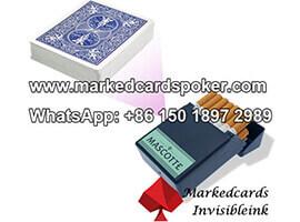 Caja de cigarrillos lector de tarjetas marcadas