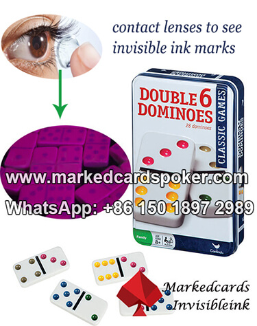 contact lenses to see invisible ink domino