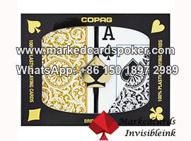 Copag 1546 borde lado marco las cubiertas para el sistema del analizador del poker
