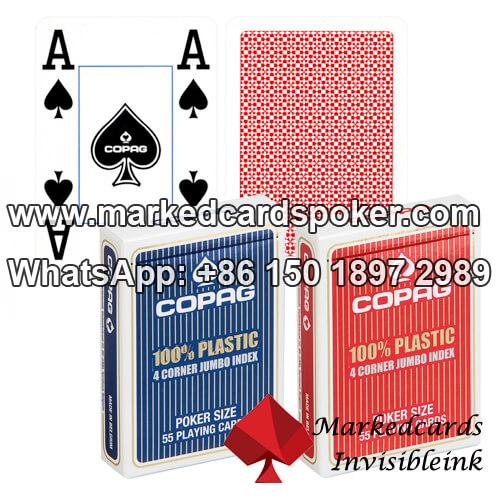 100% Plastik Copag 4 Corner Karten