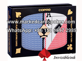 Copag exporta tinta invisivel marcada cartoes de poker