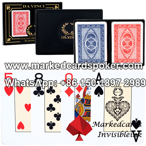 Da Vinci Route Luminous Ink Marked Playing Cards