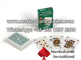 Dal Negro Texas Holdem Green NTP cartas de juego marcadas