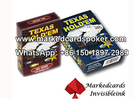Dal Negro Texas Holdem cartas de juego marcadas