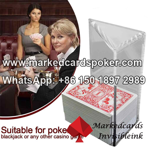Blackjack-Poker Schuhe scannt Kamera