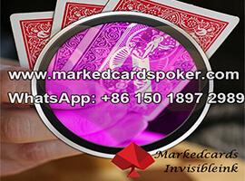 Fluorescent cartas de juego marcadas