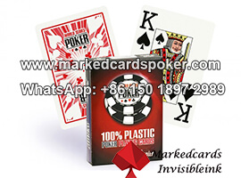 Invisible Laser Secret Marked Barcode Decks For Poker Analyzer System