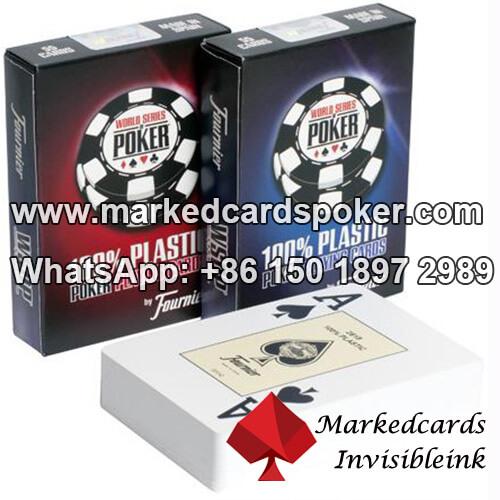 Invisível laser segredo marcado codigo de barras baralhos para sistema de analisador de poker