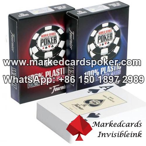 WSOP de Fournier cartas marcadas luminosas