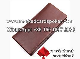 Escaner de tarjetas de codigo de barras marcado con billetera