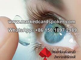 Las lentes de contacto de infrarrojos para los ojos verdes