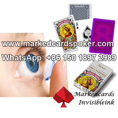 UV / IR Invisible Ink Contact Lenses for Marked Poker Cards