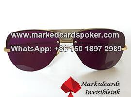 Jugando a las cartas marcadas luminoso kit gafas de tinta