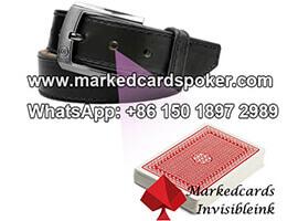 Cinturon de cuero camara de escaneo de poquer