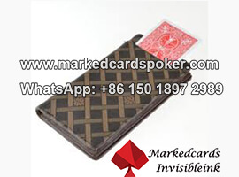 Leather Wallet Cards Exchanger Poker Device