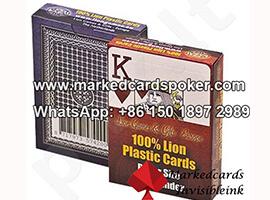 Lion plastico tinta invisible marco tarjetas