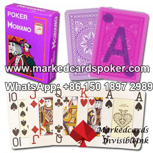 Modiano Cristallo Marked Playing Cards
