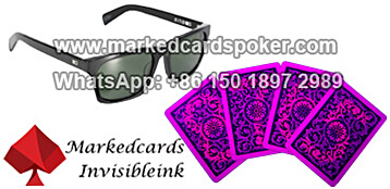 marked playing cards with sunglasses