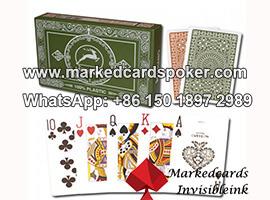Tinta invisible lado del borde marcado cartas en juegos de poquer