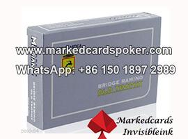 Invisible tinta borde lado codigo de barras juego de tarjetas de marcado