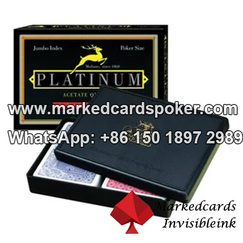 Modiano Platinum marcada baralhos de poker