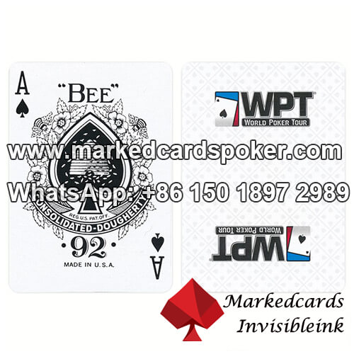 Marked Cards Contact Lenses Modiano WPT Poker