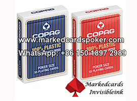 Copag 4PIP luminosa marcada cartoes de poker