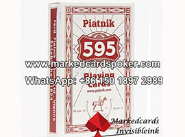 Contact Lenses Marked Cards Of Piatnik 595 Poker