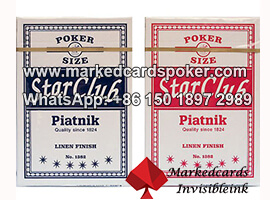 Tricks In Piatnik Club Star Luminous Ink Marked Cards
