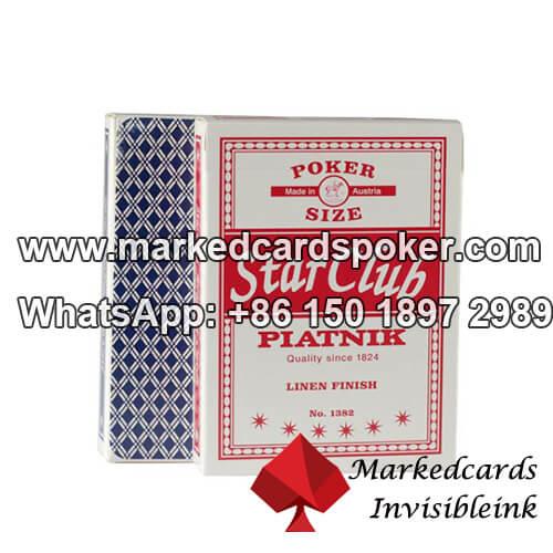 Tinta invisible marcado Piatnik Club Estrellas cubiertas de poker