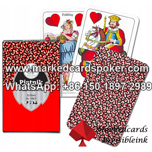 Piatnik Doppeldeutsche Nr.1808 Marked Playing Cards