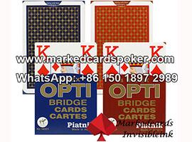 Piatnik OPTI Bridge tamanho 4 índice baradas de poker marcadas