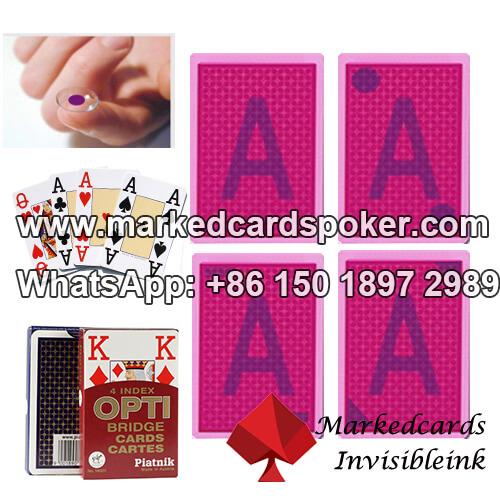 Piatnik OPTI Bridge Size 4 index cartas de juego marcadas