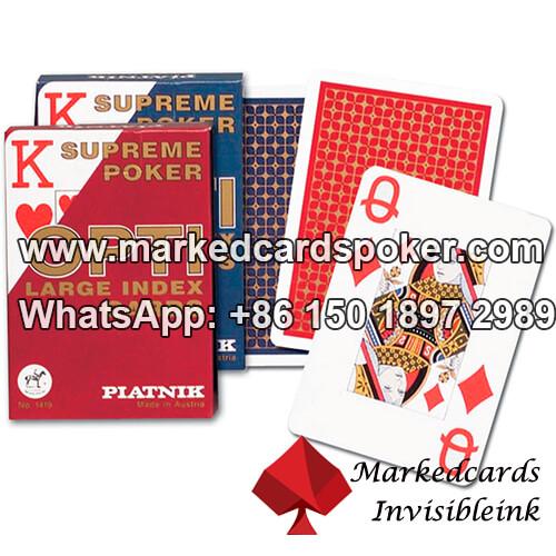 Luminosa de poquer marca Piatnik tarjetas