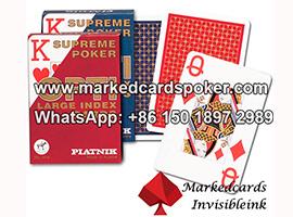 Piatnik OPTI luminoso marcado jugando cartas rojas