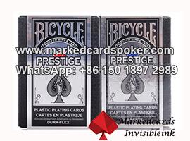 Truco de magia de Bicycle de plastico marcado tarjetas de poquer