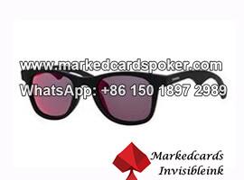 Gafas de sol de plastico ver a traves de tarjetas de juego