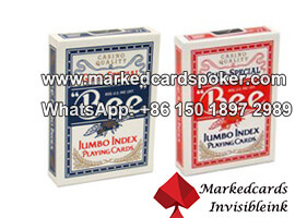 Special Bee No.77 Jumbo Index Red Playing Cards