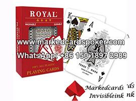 Tarjetas de poquer marcadas infrarrojas lejanas Royal